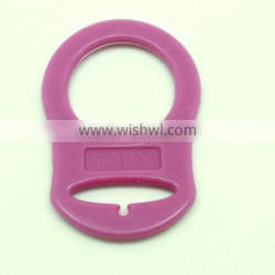 Colorful transperant or solid colors high quality pacifier holder ring