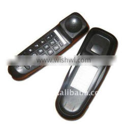 Contemporary simple basic black small mini wall telephone