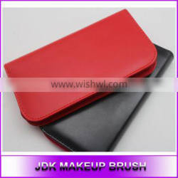 PU Leather red makeup bags, High quality Soft leather cosmetic bags