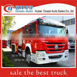 SINOTRUK HOWO 6X4 fire truck dimension 12000L airport fire truck for sale