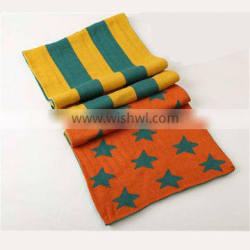 Korean latest American flag Creative stitching design warm knitting scarf,hijab scarf fashion scarves