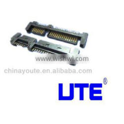 16Pin female wire bonding type SATA connector