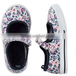 china canvas shoes multicolor floral upper pvc sole injection cheap casual girl shoe sneaker shoes kids 2016