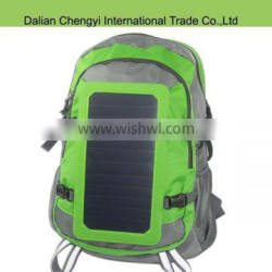 Tactical oxford hiking solar backpack for phone power supplier