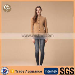 Stand collar cable knitted sweater