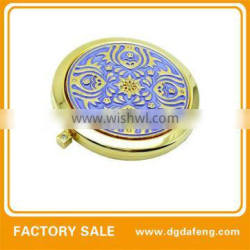 oval shaped polished metal cosmetic mirrors