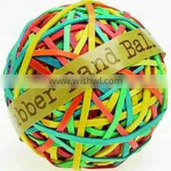 Color Soft Rubber Band Ball With Print logoe For Office