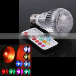 E27 RGB LED Lamp Stage 9W LED RGB Bulb Light Lamp 100-240V Remote Control More than two million Color Change Lampada LED Luz