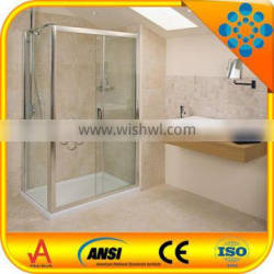 new stainless steel simple shower enclosure/shower cabin with stainless steel frame