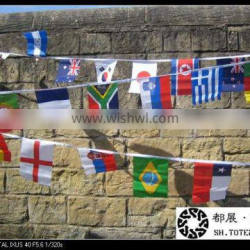 Large Fabric Bunting With Different Countries
