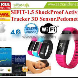 SIFIT-1.5 Anti ShockProof Activity Tracker. Bluetooth 4.0 WIFI hotspot Calories Counter. Anti Shock Activity Tracker