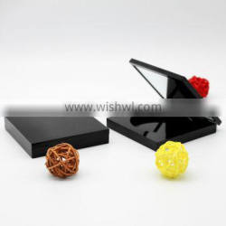 Square shape empty magnetic makeup palette with mirror