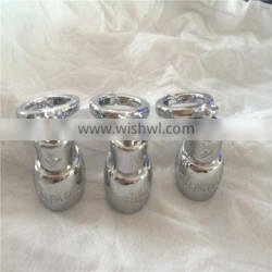 Electroplating processing chrome plated key ring