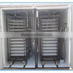 ZH-8448 with 2 egg trolly poultry egg incubator selling
