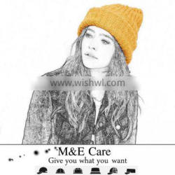 promotional good quality types of women knit winter hat