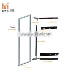 concealed dressing wardrobe pull out mirror with aluminum frame 90 degree rotation and fittings