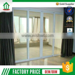 Wholesale PVC Sliding Door With Decorated Table Glass