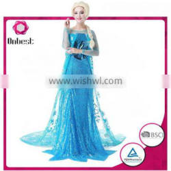 New style frozen princess anna dress wholesale cosplay dress new style dress for adults