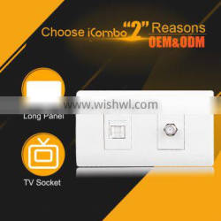 icombo PBTV+usb electrical wall outlet And 1 TV adsl socket