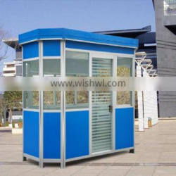Top quality portable security booth/prefabricated security booth/security booth for sale with free 3d max design