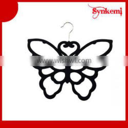 Butterfly shaped plastic scarf hanger