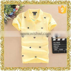 Various colours cotton short sleeve ladies girls cheap polo tshirts wholesale