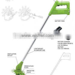 (GD-12511)Battery-Powered Motor- Operated blade replaceable grass cutter
