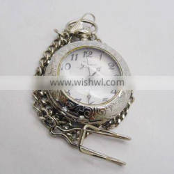 2013 good quality open-face cheap silver pocket watch