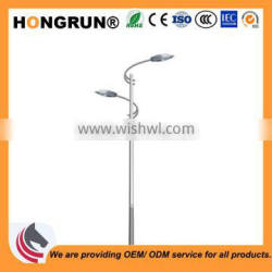 7m-13m Streamlined high-low type Dual-arm street light pole of steel lamp poles