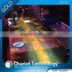 On Sale ! High quality Chariot glass interactive table