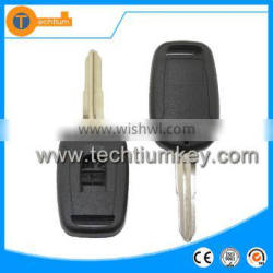 2 button transponder remote key shell without logo with uncut blade and plastic material for Chevrolet Captive