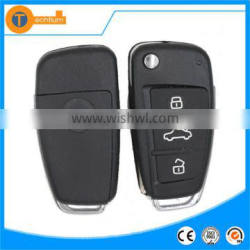 Universal remote control car key shell fob uncut blade For Audi key blank