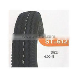 Motorcycle tire 4.00-8 with all patterns in high quality