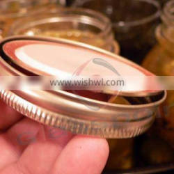 Two pieces lid for mason jars