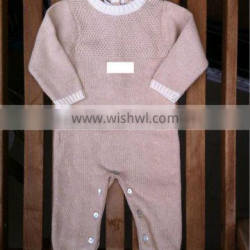 two color Baby knitted romper