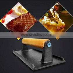 HHC-13 grill for bbq /Eco-Friendly cast iron meat grill press