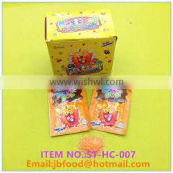 3g orange flavor popping candy in a bag