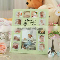 Beautiful modern 12 month baby photo picture display frame