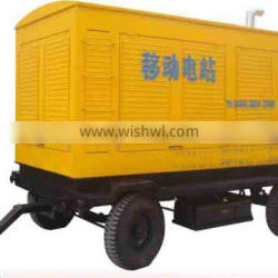 moveable and soundproof 100kw trailer diesel generator set with cummins engine 6BTA5.9G2