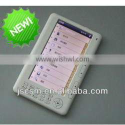 shenzhen top manufacturer! ebook reader 7inch button type with 800*480 resolution,rockchip 2738,4GB memory built-in, TFT screen