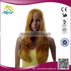 Wholesale price High Temperature Fiber fashion yellow anime wig