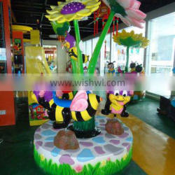 three seats mini carousel ride for sale 2014