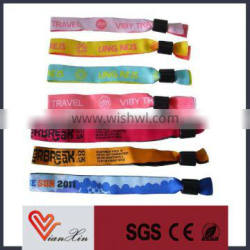 Cheap Promotional Plastic Clip Woven Wristband