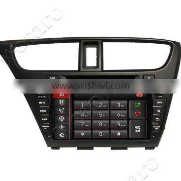 """Wecaro android 4.4.4 car stereo touch screen 8"""" car dvd gps for honda civic BT gps 3g TV 2014 2015"""