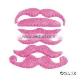 Christmas holiday pink mustache