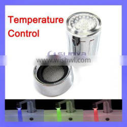 3 Color LED Light Red Green Blue Chrome Plate Temperature Control Tap