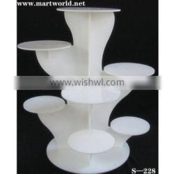Acrylic cake stand in oyster white color for home/party/hotel/banquet/wedding decoration (S-229)