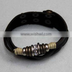 2014 New Personal wholesale black leather bracelets
