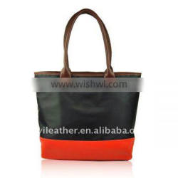 T009-Hot sale woman fashion water proof nylon tote bag ladies wholesale