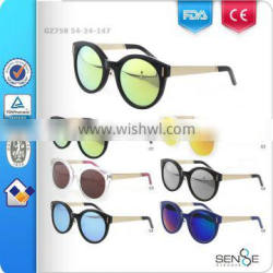2015 new fashion round frames vintage metal sunglasses for young CE/FDA